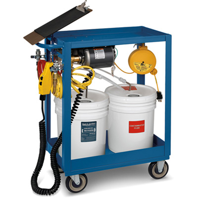 Economy Oil-Change Cart & Accessories