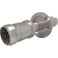 KF Flanged Type K - Thermocouple Feedthroughs - Mil-Spec Screw T/C Plug, Double-End