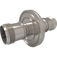 KF Flanged Type J - Thermocouple Feedthroughs - Mil-Spec Screw T/C Plug, Double-End