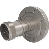 CF Flanged Type K - Thermocouple Feedthroughs - Mil-Spec Screw T/C Plug, Double-End