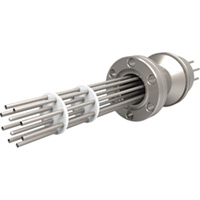 CF Flanged Type K - Thermocouple Feedthroughs - Push-On (Multi T/C) Plug