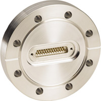 Multi-Pin Sub D Push-On Feedthrough - CF Flanged