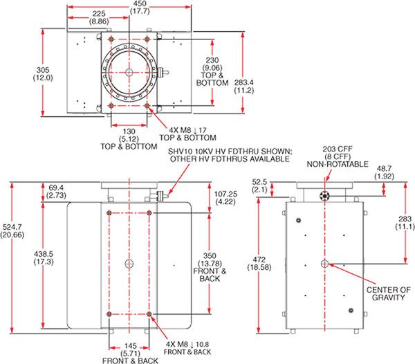 Kurt J  Lesker Company | Gamma Tall Profile Ion Pumps (150T - 600TV